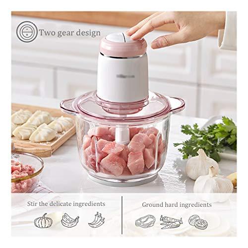 Keukenmachine keukenmachine vleesmolen Baby Food Processor, vlees, groente vijzel met twee snelheidsinstellingen, uiensnijder (kleur: 21.9 x 17.5 x 25 cm)