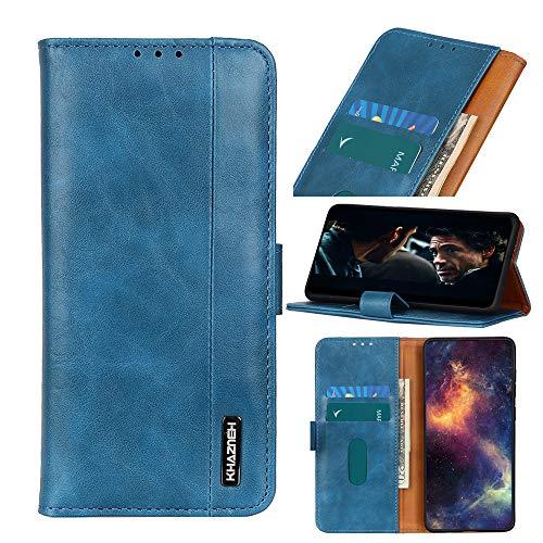 ROVLAK Hülle für LG K40S Flip Hülle Magnet Hülle Leder Tasche Halterung Handyhülle Kartenhalter Steckplätze Wallet Cover Stoßdichte Schutzhülle für LG K40S,Blau