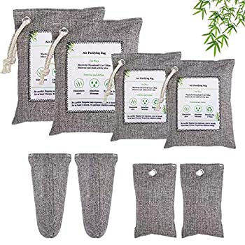 Nature Fresh Charcoal Air Purifying Bag 8 Pack Activated Bamboo Charcoal Odor Absorber,Odor Eliminators for Home Pets Car