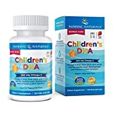 Nordic Naturals Children's DHA, Strawberry - 120 Mini Chewable Soft Gels - 250 mg Omega-3 with EPA & DHA - Brain Development & Function - Non-GMO - 30 Servings