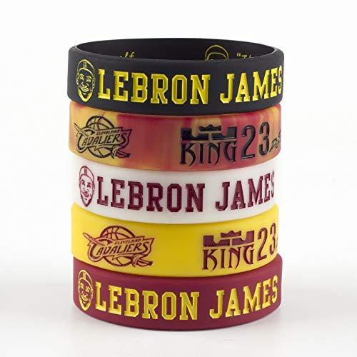 Xi-Link Silicone Bracelet, Basketball Star Avatar Series Bracelet, Star Lebron James 23 Inspiration Header Bracelet Basketball Sports Lava Wristband Night Silicone Bracelet