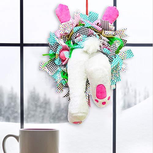 Decoración de Guirnalda de Huevos de Conejito de Pascua Decoración de Puerta de simulación con el Arco de la Bici para la decoración de la Puerta casera Pascua Ornamento Partido