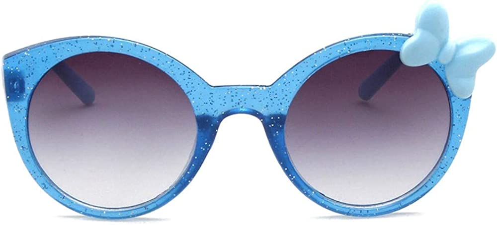 CRIS /& Miss Girls Toddler Child Fancy Sunglasses with Furry Unicorn Case Set Ages 3 to 8 Years
