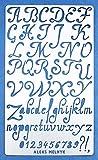 Aleks Melnyk #34.1 Pochoir à Dessin/Planche de Pochoir avec de l'alphabet, Lettres et Chiffres pour Loisirs Créatifs/Stencil Peinture Journal en métal/Gabarit Scrapbooking