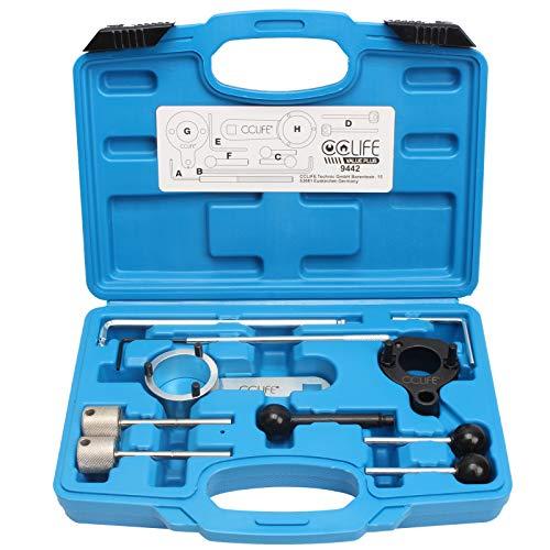 CCLIFE Motor Einstellwerkzeug Arretierwerkzeug Steuerzeiten Werkzeug Diesel Kompatibel mit VAG VW Audi 1.4 1.6 2.0 TDI CR