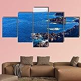 AAAKK Cuadro en Lienzo, Tenerife Playa Negra en españa, Cuadro Moderno En Lienzo 5 Piezas XXL, con Marco Listo para Colgar para Sala de Estar Décor