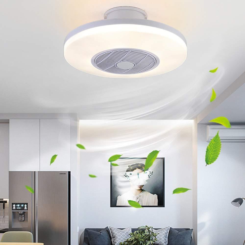 Ventiladores de Techo con Lámpara, Ventilador de Techo con Luces LED con Control Remoto Regulable Ultra Silenciosa ...