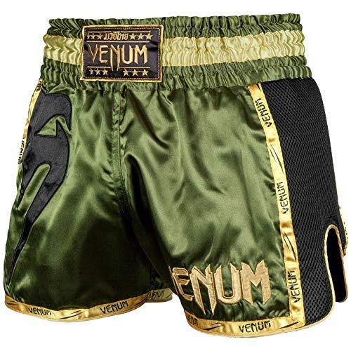 Venum Muay Thai Shorts Giant, Größe:XL, Farbe:Khaki/Black/Gold