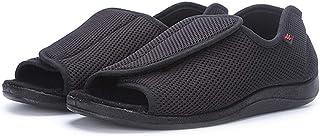 B/H Chaussures pour œdèmes diabétiques Larges,Chaussures Velcro réglables, Gros Pieds gonflés et Large Pouce valgus Chauss...