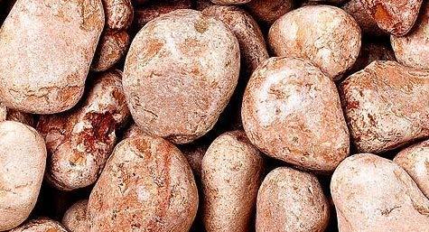 WUEFFE Ciottoli di Marmo Rosso Verona - Sacchi da 25 kg - Sassi Rossi Pietre Giardino (15/25 mm, 1 Sacco da kg.25)