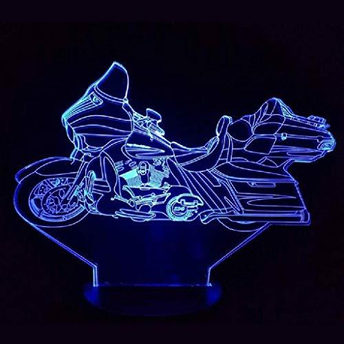YiYUNRR 3D-nachtlampje voor kinderen, 3D-illusie-lamp, verschillende 3 patronen en 7 kleurwisselende decoratieve lamp met touch-afstandsbediening voor de beste verjaardag