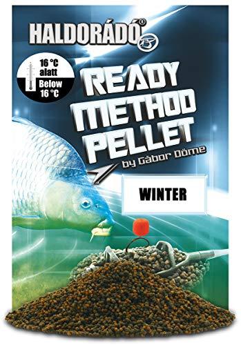 Haldorado Ready Method Winter Pellet Natürliche Aromen Angelköder Method Feeder Angeln Angelzubehör Karpfenangeln Köder für Kaltwasser 800g Dunkelviolett