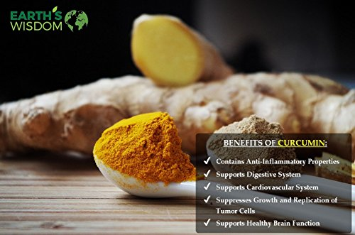 Premium Organic Turmeric Curcumin with BioPerine 1300mg. 120 Non-GMO & Gluten Free Veggie Capsules with Pepper. Potent Pain and Inflammation Relief, Joint Support with 95% Standardized Curcuminoids.