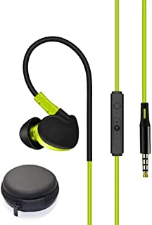 Wired Running Earphone With Mic, Vuffuw Over Ear Headphone Noise-Isolating, Heavy Bass Earbuds Headphones, Lightweight Earphones With Volume Control
