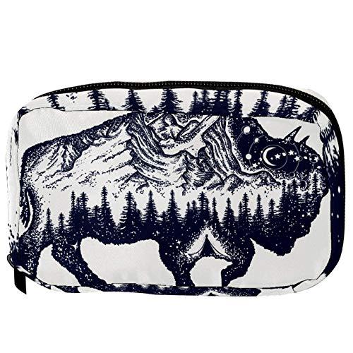 Trousse de toilette de voyage - Symbole Bison of Adventure - Pratique - Pour femme et fille