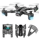 MAFANG® Drone con Cámara 4K HD, Dron WiFi FPV por Control Remoto, Control De Voz, Control De Gestos, Quadcopter Helicóptero con Headless Modo, Altitud Hold, G-Sensor, Modo Órbita, 3D Flip