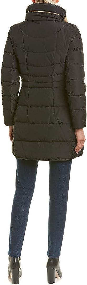 Cole Haan Women's Taffeta Down Coat with Faux Fur Collar