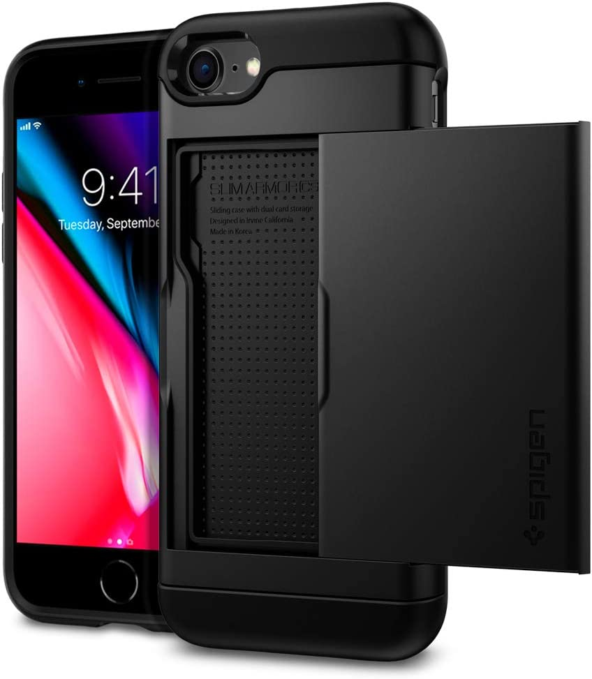 Spigen Slim Armor CS Designed for iPhone SE 2020 Case/Designed for iPhone 8 Case (2017) / Designed for iPhone 7 Case (2016) - Black