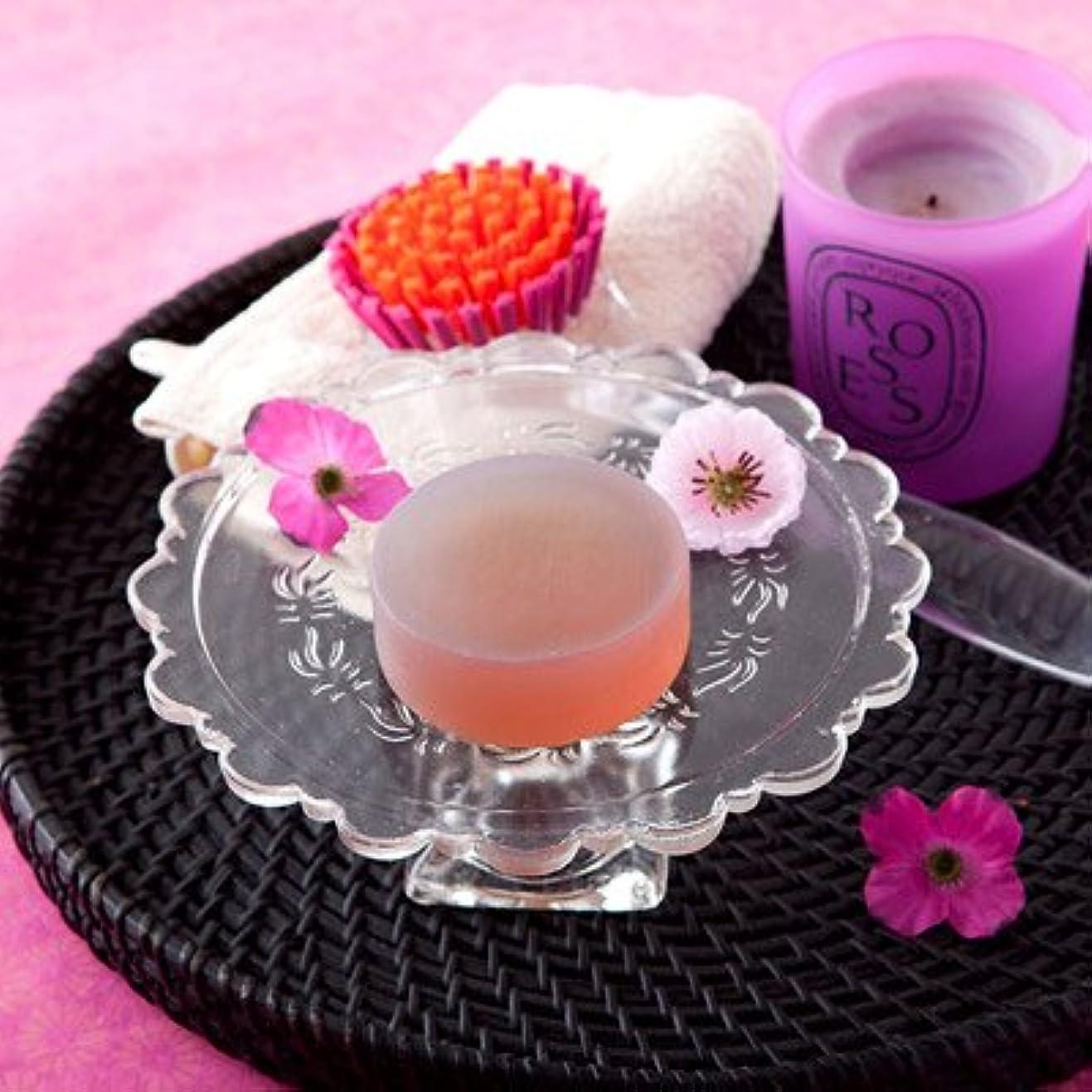 キャンセルスチュワーデス取り囲むお肌の弱い方も安心なクリアソープセット ペアローザ エステソープ 紫潤(2個セット)