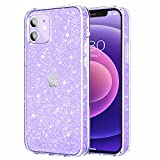 JJGoo Clear Glitter Case Compatible with iPhone 12 and...