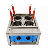 4/6 Holes Commercial Pasta Cooker Machine, Electric Noodles Oven Frying Baffle Boiler Cooking Tool...