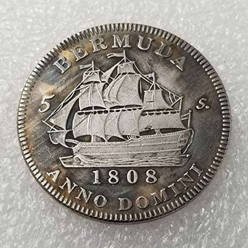 YunBest Moneda antigua británica de 1808, con Jorge III de Escocia, chelín - Monedas conmemorativas sin circular, descubre la historia de las monedas BestShop