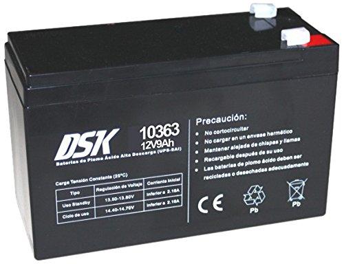 DSK 10363 - Batería Plomo Alta Descarga de 12V y 9Ah Ideal para UPS-SAI