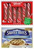 Swiss Miss Marshmallow Hot Cocoa Mix, 6ct. Box   Peppermint Candy Cane Spoons 6ct. pack