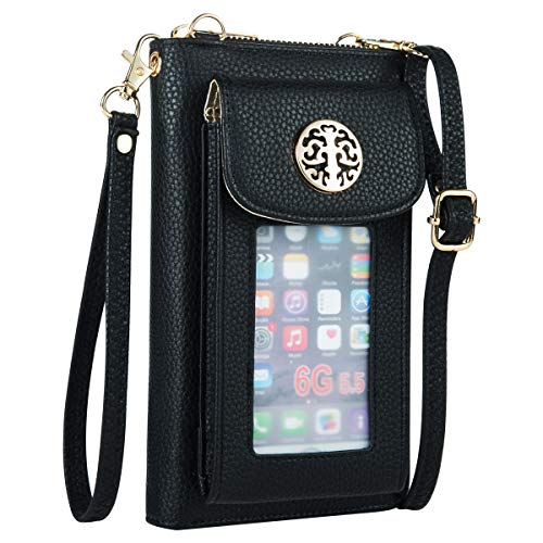Heaye Cell Phone Purse Wallet Mini Crossbody Phone Bag Women Wristlet with Phone Holder Handbag