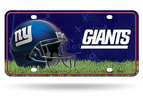 Rico NFL New York Giants Metal License Plate Tag 6' x 12' Multicoloured