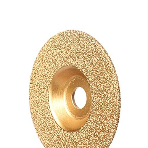 Muela 1pc 100mm Bore 16mm ngulo Molinillo de diamante soldado Muela de molienda Hoja de disco para herramientas de pulido de molienda de hierro fundido Para pulir ( Color : Grinding Disc 100mm )