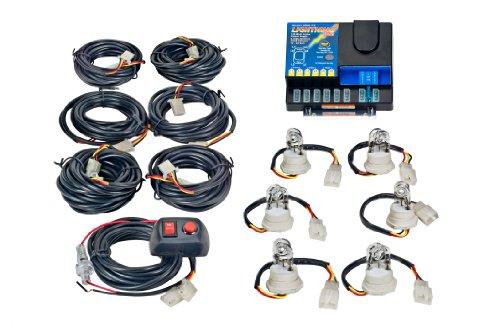 Wolo (8006-1-6C) Lightning Plus 120 Watt Power Supply Six Bulb Emergency Warning Strobe Kit - 6 Clear Bulbs