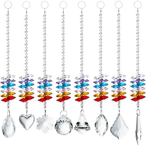 Regenbogenmacher Fengshui Kronleuchter-Anh/änger mit Prismen-Effekt H/&D Sonnenf/änger mit Kristallanh/ängern f/ürs Fenster