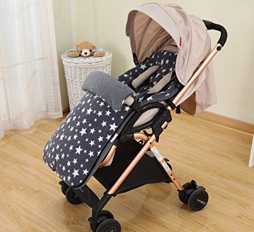 Black BAYINBROOK 3 in 1 Baby Stroller Sleeping Bag Annex Mat Footmuff Cover Stroller Bunting Bag Waterproof Windproof Cold-Proof Detachable,Universal Baby Stroller Liner Buggy Padded Footmuff