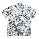 (スタイルド バイ オリジナルズ)Styled by Originals ハイビスカス 花柄 半袖 レーヨン100% アロハシャツ 5L WHITE(ホワイト)