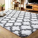 LOCHAS Luxury Velvet Shag Area Rug Modern Indoor Plush...