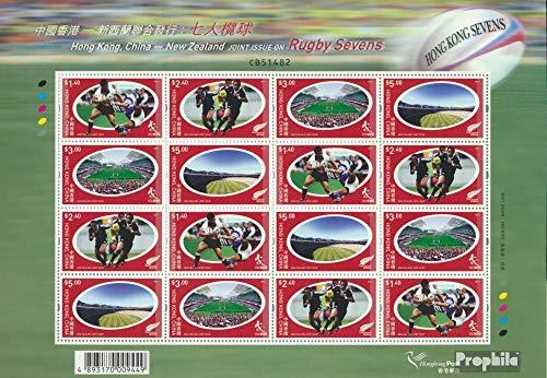 Prophila Collection Hongkong 1168-1171 Zd-Bogen (kompl.Ausg.) 2004 Rugby Sevens (Briefmarken für Sammler) Sport Sonstige