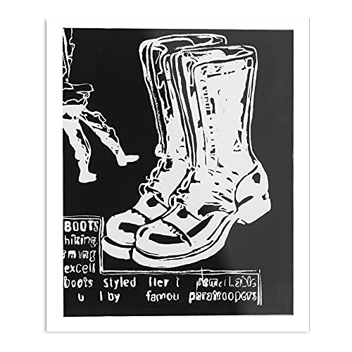 Poster Andy Warhol Paratrooper Boots (Negative)