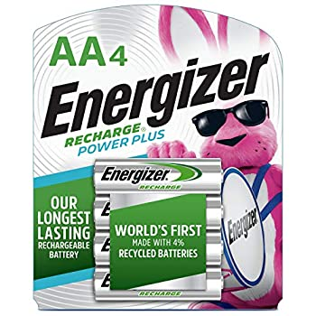 Energizer Rechargeable AA Batteries NiMH 2300 mAh Pre-Charged 4 count  Recharge Power Plus