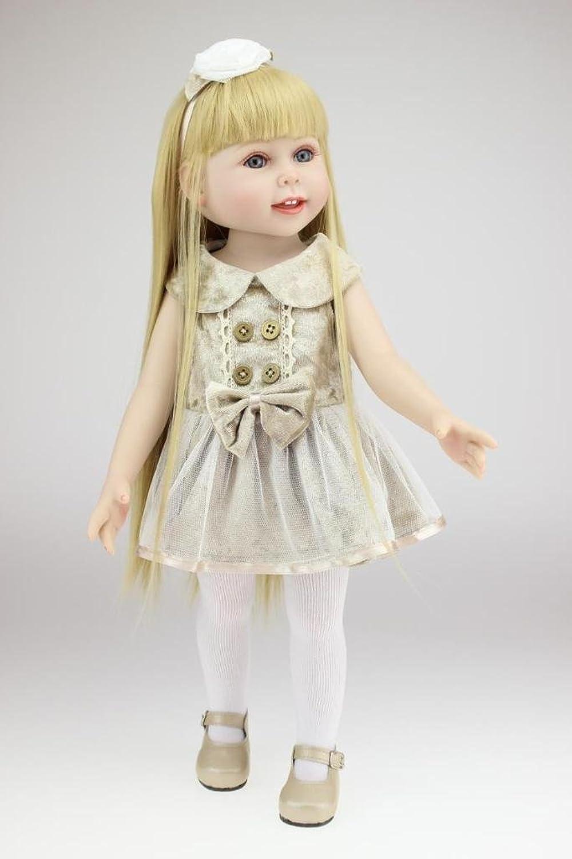 Nicery Reizender Madchen Spielzeug Puppe Hohe Weich Vinyl 18inch 45cm Naturgetreue Beweglich Lacheln Prinzessin Golden Hair Reborn Doll A3DE B01D6FKRLW Luxus  | Vielfältiges neues Design