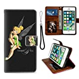Wallet Case for Apple iPhone 6 Plus 6s Plus (5.5') Fairy Black Green Tinker Bell