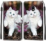 Vepbk pour Samsung Galaxy J3 2017 / J330 Coque, Etui Housse Flip Case avec Motif Coloré Dessin...