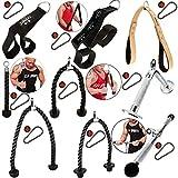 C.P. Sports Griffschlaufen/Crunch Strap/Trizepsseil/Trizepsgriff V-Form/Bizeps-Trizepsstange +...