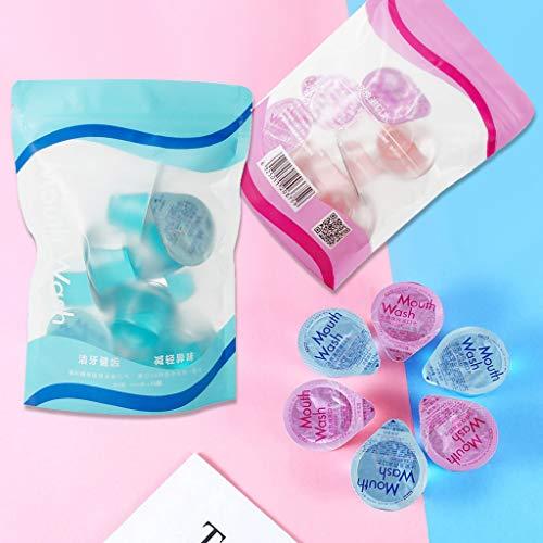 JIAGO 20PC Mundspülung,Einweg Clean Jelly Cup Mundwasser mit intensivem Minzgeschmack und Rose Aromen 13ml (BLAU)