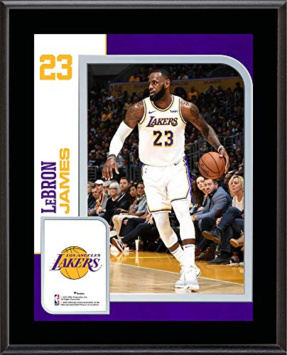 """LeBron James Los Angeles Lakers 10.5"""" x 13"""" Sublimated Player Plaque - NBA Player Plaques and Collages"""