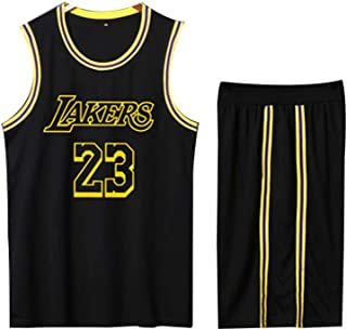 Giallo Completo Completo da Basket Kobe Bryant 24# 8# Completo da Uomo da Basket YUNY Lakers James 23#