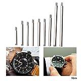 Vite di riparazione dell'orologio, metallo 10 dimensioni Set di viti per cinturino dell'orologio Accessori per strumenti di riparazione dell'orologio con scatola di immagazzinaggio(50pcs)
