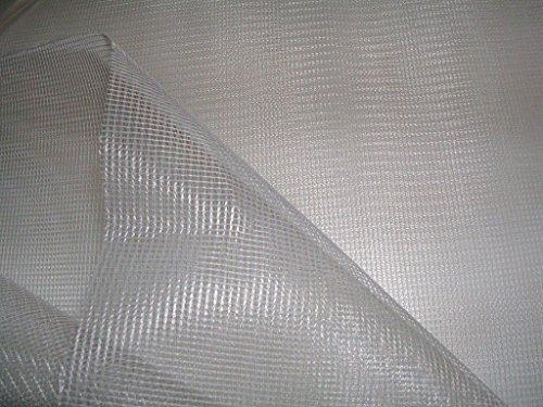 creadetex Toile Tissus MOUSTIQUAIRE Blanc Polyester Souple au Metre Largeur 300 cm
