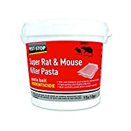 Pest-Stop Super Mouse and Rat Killer Pasta Baits, Red, 118mm (h) x 118 mm (w) x 125 (d)