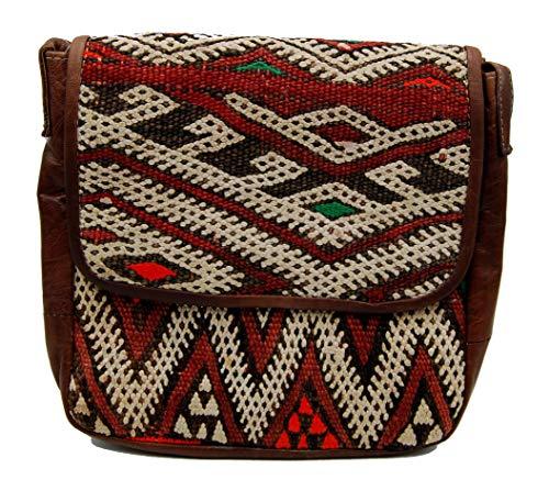 Etnico Arredo Bolso bandolera auténtica piel africana Marruecos cuero vintage 0705201103